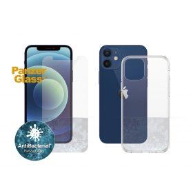 كفر وشاشة حماية PanzerGlass - iPhone 12 Mini ClearCase - Bundle