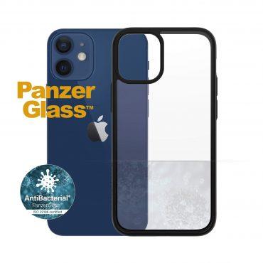 كفر PanzerGlass - iPhone 12 Mini ClearCase - شفاف / إطار أسود