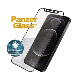 شاشة حماية PanzerGlass - Cam Slider iPhone 12 Pro Screen Protector - إطار أسود