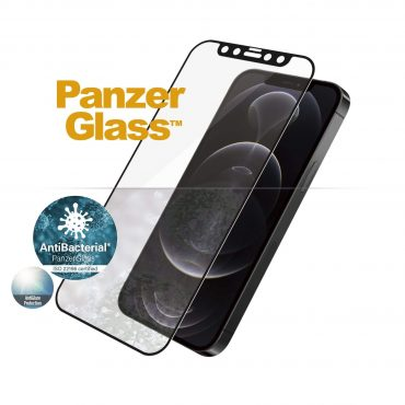 شاشة حماية PanzerGlass - Anti-Glare iPhone 12 Pro Screen Protector - إطار أسود