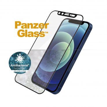 شاشة حماية PanzerGlass - Swarovski Edition iPhone 12 Mini Screen Protector - إطار أسود