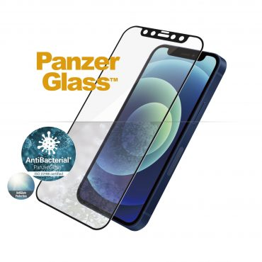شاشة حماية PanzerGlass - Anti-Glare iPhone 12 Mini Screen Protector - إطار أسود
