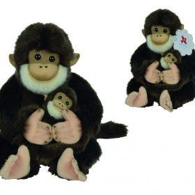 دمية القرد وطفله 25 سم NICOTOY - Monkey With Baby