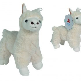 لعبة الدب لاما الأبيض 16 سم CLEMENTONI - White Lama