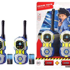 لعبة جهاز الشرطة اللاسلكي أزرق وفضي قطعتينDICKIE - Walkie Talkie Police
