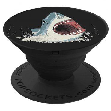 مسكة وستاند هاتف محمول PopSockets - سمك القرش