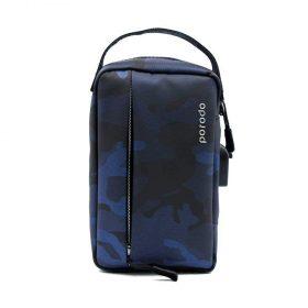 شنطة بورودو المنظمة مع وصله USB – أزرق مموه