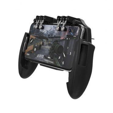 قاعدة ألعاب للهواتف المحمولة مع مروحة تبريد Porodo P3 Pro Universal Gaming Dock with Cooling Fan and 4 Firestick 5W - أسود
