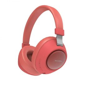 سماعة رأس لاسلكية Porodo Soundtec Deep Sound Wireless Over-Ear Headphone - أحمر