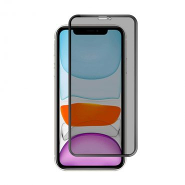 شاشة حماية زجاجية للخصوصية بحواف منحنية ثلاثية الأبعاد لآيفون 11 Pro Max من Porodo  - أسود