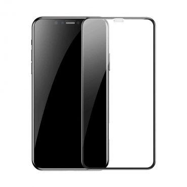شاشة حماية زجاجية بحواف منحنية ثلاثية الأبعاد لآيفون 11 Pro Max  من Porodo - أسود