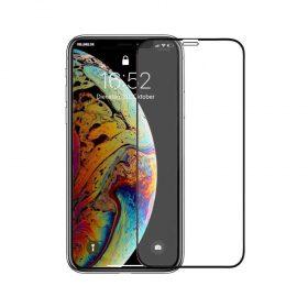شاشة حماية زجاجية بحواف منحنية ثلاثية الأبعاد لآيفون 11 Pro من Porodo - أسود
