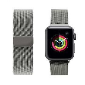 حزام ساعة آبل iGuard 44 ملم/ 42 ملم - فضي