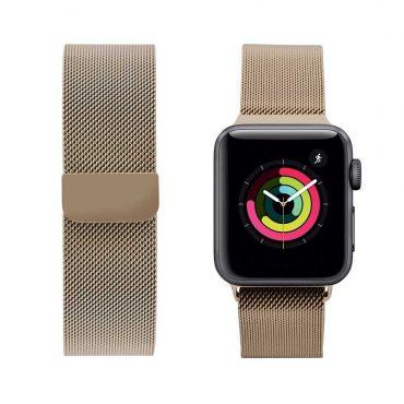حزام ساعة آبل iGuard 44 مللي / 42 مللي – ذهبي فاتح