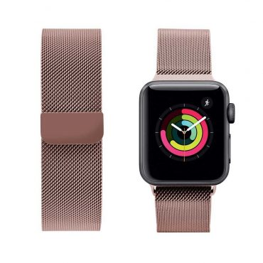 حزام ساعة آبل iGuard 44 ملم/ 42 ملم - وردي
