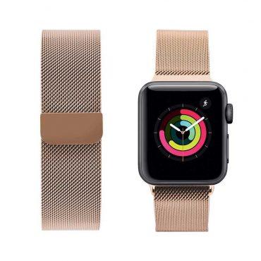 حزام ساعة آبل iGuard 44 ملم/ 42 ملم - ذهبي وردي