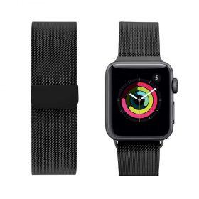 حزام ساعة آبل iGuard 44 مللي مللي / 42 ملم - أسود