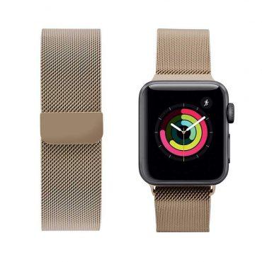حزام ساعة آبل 44 ملم/ 42 ملم - ذهبي فاتح