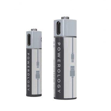 بطارية Powerology - USB Rechargeable Lithium-ion Battery AAA ( 2pcs/pack ) 450mAh / 675mWh