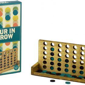 لعبة أربعة في الصف الكلاسيكية Professor Puzzle - WOODEN FOUR-IN-A-ROW Classic Board Game