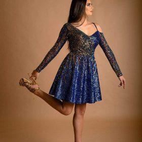 فستان ترتر قصير 5222