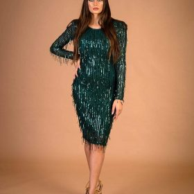 فستان ترتر خيوط قصير 394