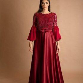 فستان ستان ترتر 2397
