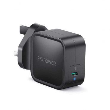 RAVPower PD Pioneer GaN Wall Charger 61W UK - Black