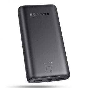 باور بانك Ravpower Prime 3-Port Powerbank 20000mAh 15W - Black