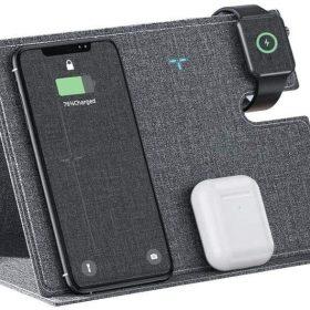شاحن لاسلكي ROCK - 3 in 1 Wireless Charger