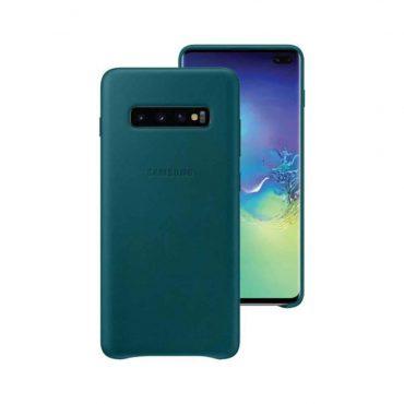 حافظة جلدية لهواتف سامسونج جالاكسي S 10 - اخضر