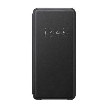 كفر Samsung - Galaxy S20+-S20+ 5G Smart Led View Cover - أسود
