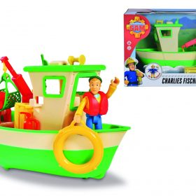 لعبة قارب صيد مع شخصية سام رجل الإطفاء Sam Charlies Fishing Boat and Figurine - Simba