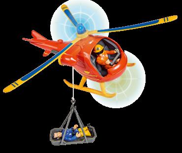 لعبة طائرة هوليكبتر لرجل الإطفاء سام  Helicopter Wallaby incl. - Simba
