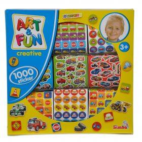 ملصقات للأطفال SIMBA - ART & FUN 1000 STICKERS FOR BOYS