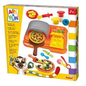لعبة تحضير البيتزا SIMBA - ART & FUN DOUGH SET IN PIZZA CARTON