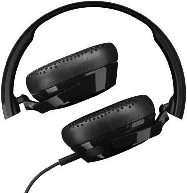 سماعة رأس لاسلكية Riff Wireless On-Ear Headphones with Tap Tech Skullcandy - أسود