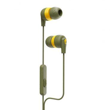سماعة رأس مع ميكروفون Inkd+ In-Ear Headphones with Mic Skullcandy - زيتي/ أصفر