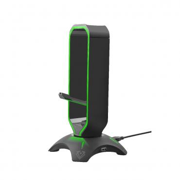 حامل سماعة الرأس و الماوس 3-IN-1  DUAL USB HUB - vertux