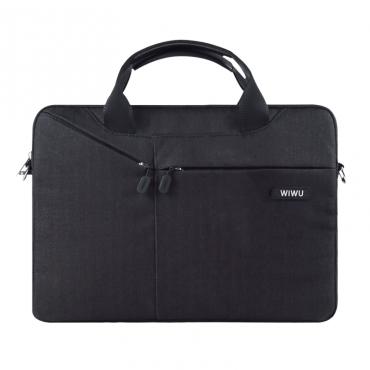 """حقيبة السفر المحمولة WIWU CITY COMMUTER BAG FOR 12"""" LAPTOP/ULTRABOOK - BLACK"""