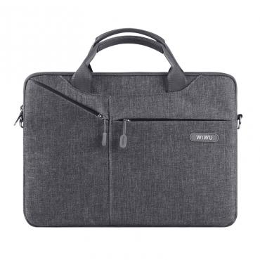 """حقيبة السفر المحمولة WIWU CITY COMMUTER BAG FOR 12"""" LAPTOP/ULTRABOOK - GRAY"""
