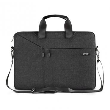 """حقيبة السفر المحمولة WIWU CITY COMMUTER BAG FOR 15.6"""" LAPTOP/ULTRABOOK - BLACK"""