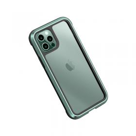 "كفر أيفون WIWU DEFENSE ARMOR PHONE CASE MILITARY LEVEL SHOCKPROOF FOR IPHONE 12 (6.1"") - GREEN"
