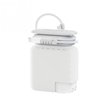 غطاء القابس WIWU POWER ADAPTER CASE WITH CORD WINDER & CABLE PROTECTOR FOR 87W & 96W - WHITE