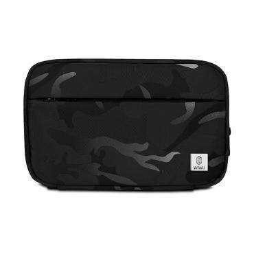 محفظة اليد المحمولة WIWU CAMOUFLAGE TRAVEL POUCH (22.5*14.5*5CM) - BLACK