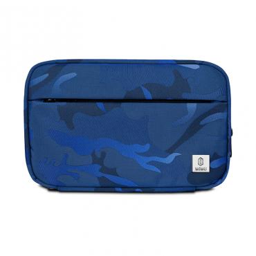 محفظة اليد المحمولة WIWU CAMOUFLAGE TRAVEL POUCH (22.5*14.5*5CM) - BLUE