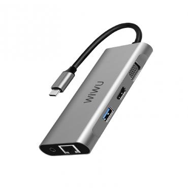 الهاب WIWU ALPHA 11 IN 1 USB-C HUB A11312H - GRAY