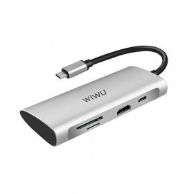 الهاب WIWU ALPHA 7 IN 1 USB-C HUB A731HP - GRAY