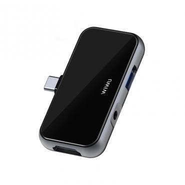 الهاب الإحترافي WIWU ALPHA T5 PRO 4 IN 1 USB-C HUB