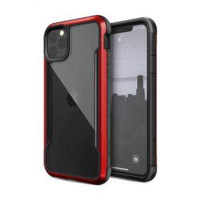 كفر X-Doria - Defense Shield Back Case for iPhone 11 Pro Max - شفاف / أحمر